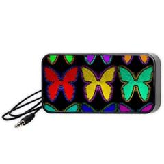 Butterflies Pattern Portable Speaker (Black)