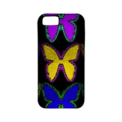 Butterflies Pattern Apple Iphone 5 Classic Hardshell Case (pc+silicone)
