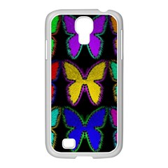 Butterflies Pattern Samsung Galaxy S4 I9500/ I9505 Case (white)
