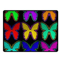 Butterflies Pattern Double Sided Fleece Blanket (Small)