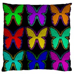 Butterflies Pattern Large Flano Cushion Case (one Side)