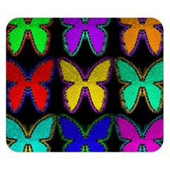 Butterflies Pattern Double Sided Flano Blanket (Small)