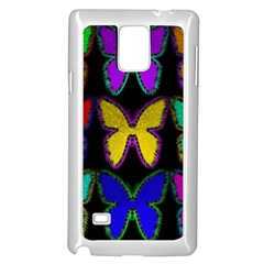 Butterflies Pattern Samsung Galaxy Note 4 Case (White)
