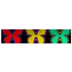 Butterflies Pattern Flano Scarf (Small)