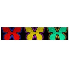Butterflies Pattern Flano Scarf (large)