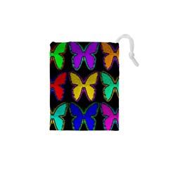 Butterflies Pattern Drawstring Pouches (XS)