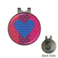 Butterfly Heart Pattern Hat Clips with Golf Markers