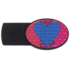 Butterfly Heart Pattern USB Flash Drive Oval (4 GB)