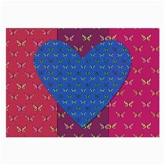 Butterfly Heart Pattern Large Glasses Cloth