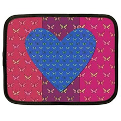Butterfly Heart Pattern Netbook Case (Large)