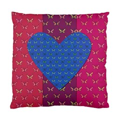 Butterfly Heart Pattern Standard Cushion Case (One Side)