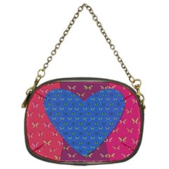Butterfly Heart Pattern Chain Purses (Two Sides)