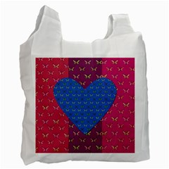 Butterfly Heart Pattern Recycle Bag (One Side)