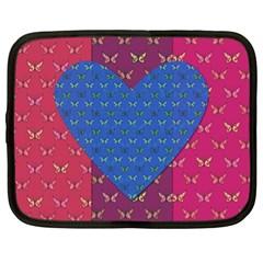 Butterfly Heart Pattern Netbook Case (XL)