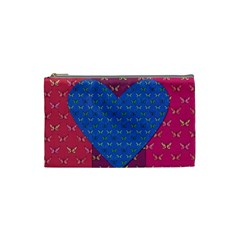 Butterfly Heart Pattern Cosmetic Bag (Small)