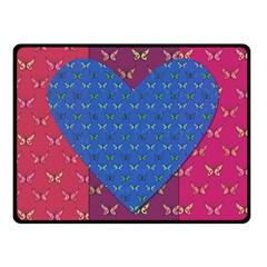 Butterfly Heart Pattern Fleece Blanket (Small)