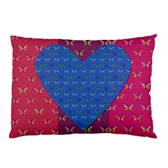 Butterfly Heart Pattern Pillow Case (Two Sides)