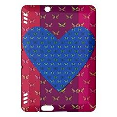 Butterfly Heart Pattern Kindle Fire Hdx Hardshell Case