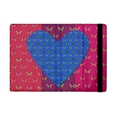 Butterfly Heart Pattern Ipad Mini 2 Flip Cases