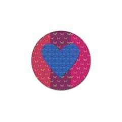 Butterfly Heart Pattern Golf Ball Marker (4 pack)