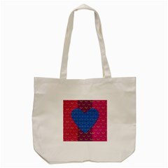 Butterfly Heart Pattern Tote Bag (cream)
