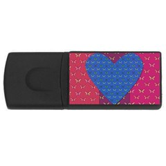 Butterfly Heart Pattern USB Flash Drive Rectangular (4 GB)