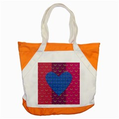 Butterfly Heart Pattern Accent Tote Bag