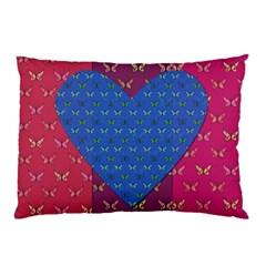Butterfly Heart Pattern Pillow Case