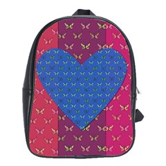 Butterfly Heart Pattern School Bags(Large)