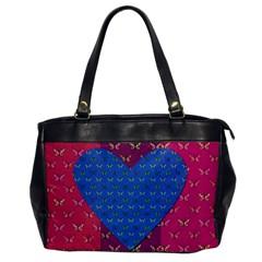 Butterfly Heart Pattern Office Handbags