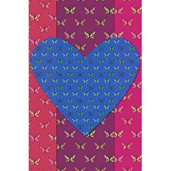 Butterfly Heart Pattern 5.5  x 8.5  Notebooks