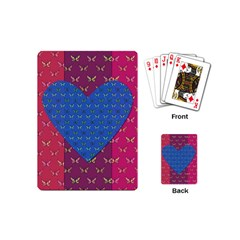 Butterfly Heart Pattern Playing Cards (mini)