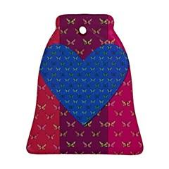 Butterfly Heart Pattern Ornament (Bell)