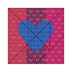 Butterfly Heart Pattern Acrylic Tangram Puzzle (6  x 6 )