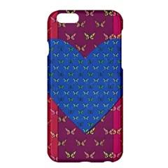Butterfly Heart Pattern Apple Iphone 6 Plus/6s Plus Hardshell Case