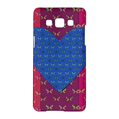 Butterfly Heart Pattern Samsung Galaxy A5 Hardshell Case