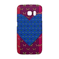 Butterfly Heart Pattern Galaxy S6 Edge
