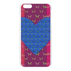 Butterfly Heart Pattern Apple Seamless iPhone 6 Plus/6S Plus Case (Transparent)