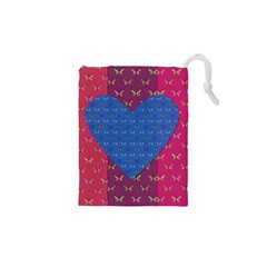 Butterfly Heart Pattern Drawstring Pouches (XS)