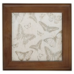 Butterfly Background Vintage Framed Tiles