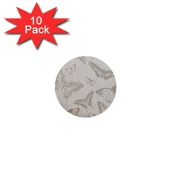 Butterfly Background Vintage 1  Mini Buttons (10 pack)