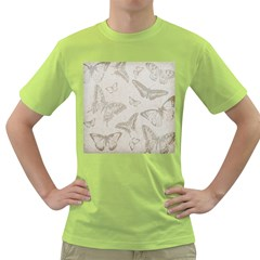 Butterfly Background Vintage Green T Shirt