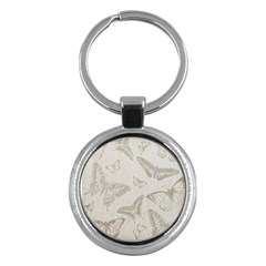 Butterfly Background Vintage Key Chains (round)