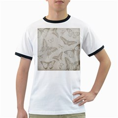 Butterfly Background Vintage Ringer T-Shirts