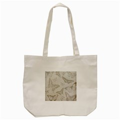Butterfly Background Vintage Tote Bag (Cream)
