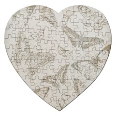 Butterfly Background Vintage Jigsaw Puzzle (Heart)
