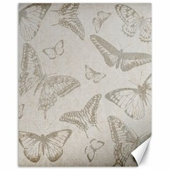 Butterfly Background Vintage Canvas 11  x 14