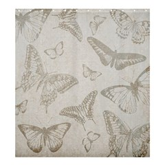 Butterfly Background Vintage Shower Curtain 66  x 72  (Large)