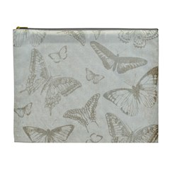 Butterfly Background Vintage Cosmetic Bag (XL)