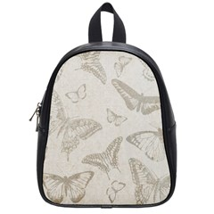 Butterfly Background Vintage School Bags (Small)